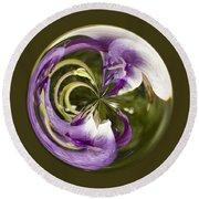Purple Swirl Orb Round Beach Towel