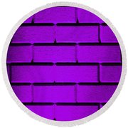Purple Wall Round Beach Towel