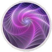 Purple Web Round Beach Towel