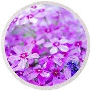 Purple Wildflower Round Beach Towel