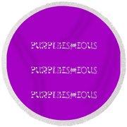 Purpleishious Round Beach Towel
