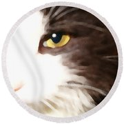 Purr Round Beach Towel