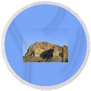 Pusch Ridge With Saguaro Round Beach Towel