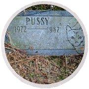 Pussy Round Beach Towel