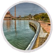 Putra Mosque Round Beach Towel