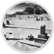 Puupiha Cemetery Lahaina Maui Round Beach Towel