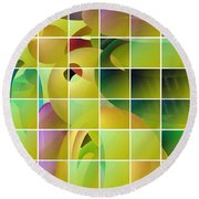 Puzzle Solved Round Beach Towel