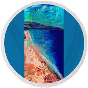 Pv Abstract Round Beach Towel