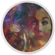 Pyewacket And Gillian - Square Version Round Beach Towel