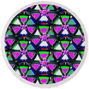 Pyramid Dome Triangle Purple Elegant Digital Graphic Signature   Art  Navinjoshi  Artist Created Ima Round Beach Towel