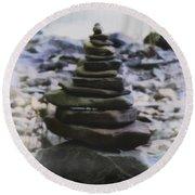 Pyramid Of Rocks Round Beach Towel