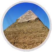 Pyramids Of Giza 15 Round Beach Towel by Antony McAulay