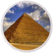 Pyramids Of Giza 28 Round Beach Towel