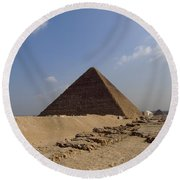 Pyramids Of Giza 30 Round Beach Towel