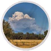 Pyrocumulus Cloud 08 18 12 Round Beach Towel