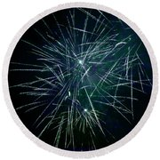 Pyrotechnic Delight Round Beach Towel