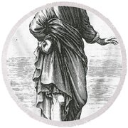 Pyrrho, Ancient Greek Philosopher Round Beach Towel