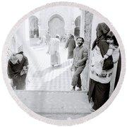 Qarawiyyin Mosque Round Beach Towel