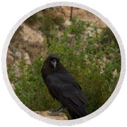Qouth The Raven Nevermore Round Beach Towel