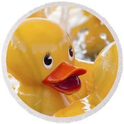 Quackers Round Beach Towel