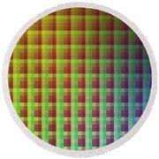 Quadrants Of Color Round Beach Towel