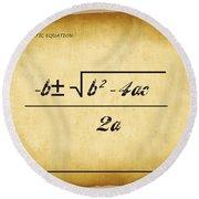 Quadratic Equation - Aged Round Beach Towel