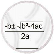 Quadratic Equation B-w Round Beach Towel