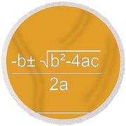 Quadratic Equation Orange-white Round Beach Towel