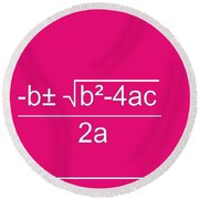 Quadratic Equation Round Beach Towel