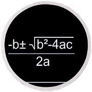 Quadratic Equation W-b Round Beach Towel