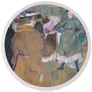 Quadrille At The Moulin Rouge, 1892 Round Beach Towel