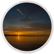 Qualicum Sunset II Round Beach Towel