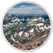 Quandry Peak 14264 Round Beach Towel
