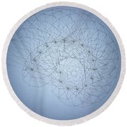 Quantum Nautilus Spotlight Round Beach Towel by Jason Padgett