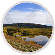 Quartz Lake Recreation Area Round Beach Towel