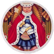 Queen Alice, 2008 Oil And Tempera On Panel Round Beach Towel