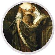 Queen Anne Of England (1665-1714) Round Beach Towel