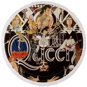 Queen - Black Queen White Queen Round Beach Towel
