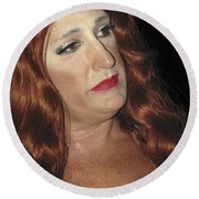 Portrait Of A Fire Island Queen Round Beach Towel