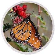 Queen Butterfly Round Beach Towel