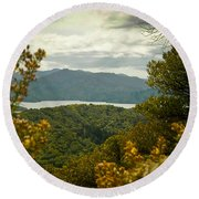 Queen Charlotte Sound Round Beach Towel