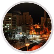Queen City Winter Wonderland After The Storm Series 0015 Round Beach Towel