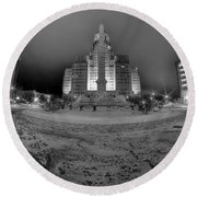 Queen City Winter Wonderland After The Storm Series 0022 Round Beach Towel