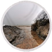 Queen City Winter Wonderland After The Storm Series 0041 Round Beach Towel by Michael Frank Jr