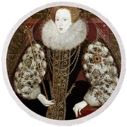 Queen Elizabeth I (1533-1603) Round Beach Towel