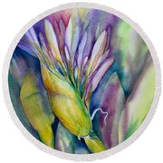 Queen Emma's Lily Blossom Round Beach Towel
