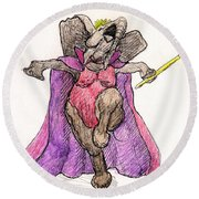 Queen For A Day Round Beach Towel by Donna Tucker