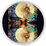 Queen Of Reflections Round Beach Towel