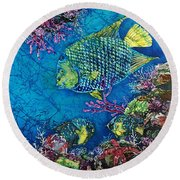 Queen Of The Sea Round Beach Towel