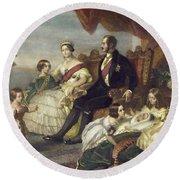 Queen Victoria & Family Round Beach Towel